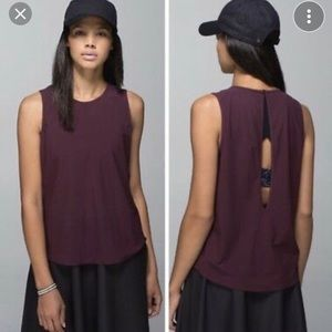 Lululemon athletica Here to There Tank Bordeaux
